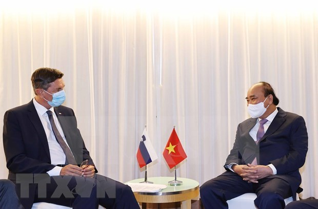 UNGA 76: The president meets with foreign leaders, the president of the WB in New York hinh anh 4