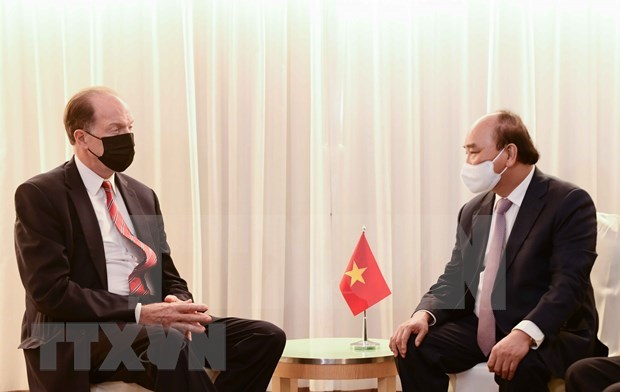UNGA 76: The president meets with foreign leaders, the president of the WB in New York hinh anh 5