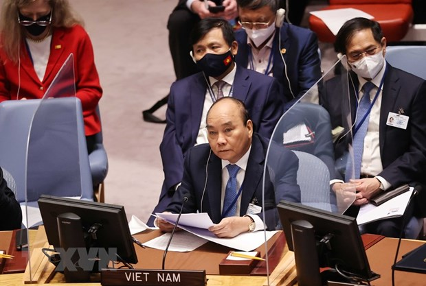 Statement by President Nguyen Xuan Phuc at high-level open debate of UNSC on climate security hinh anh 1