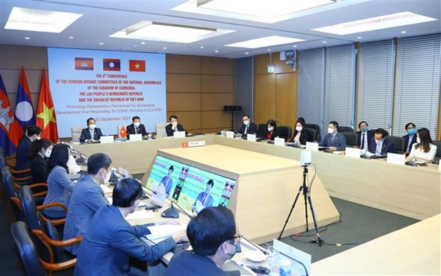 NA Committees for External Relations of Cambodia, Laos, Vietnam convene 8th conference hinh anh 2