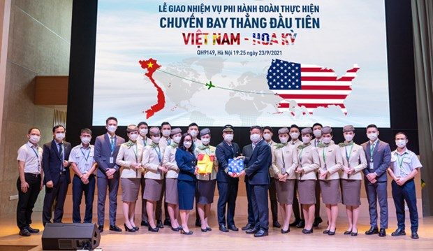 Bamboo Airways successfully operates first direct Vietnam-US flight hinh anh 2