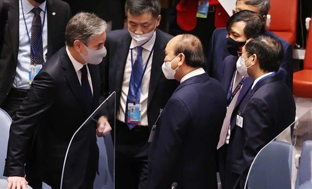 President Nguyen Xuan Phuc continues hectic schedule in New York hinh anh 1