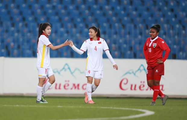 Vietnam thrash Maldives 16-0 at AFC Women's Asian Cup qualifiers hinh anh 2