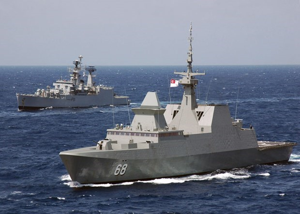 Singapore, Malaysia hold drill in Malacca Strait hinh anh 1