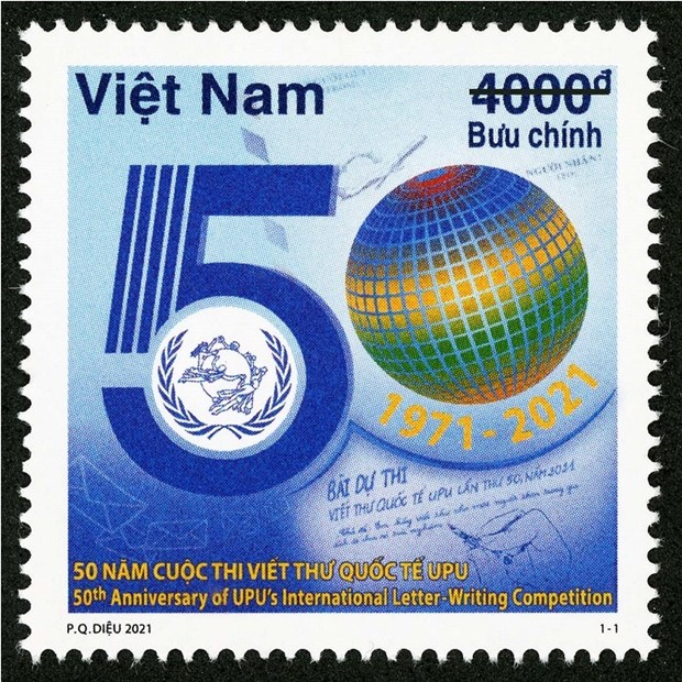 Stamp collection issued to celebrate 50 years of UPU International Letter Writing Competition hinh anh 1