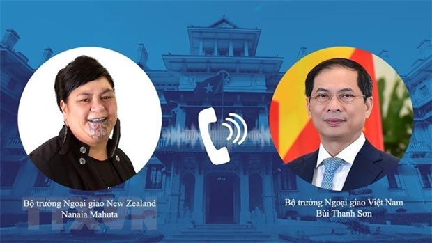 Vietnam, New Zealand foreign ministers hold phone talks hinh anh 1