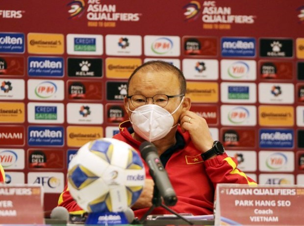 Vietnam to play game against Oman with strong determination: coach Park hinh anh 1