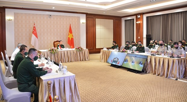 Vietnam, Singapore hold 12th defence policy dialogue hinh anh 1