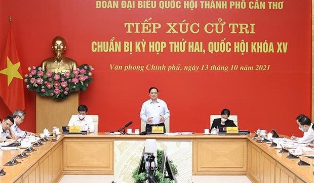 PM Pham Minh Chinh meets voters in Can Tho city hinh anh 1