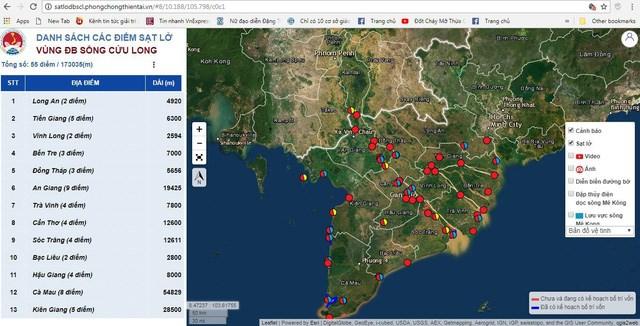 Landslides-erosions in Mekong Delta put on map | Vietnam+ (VietnamPlus)