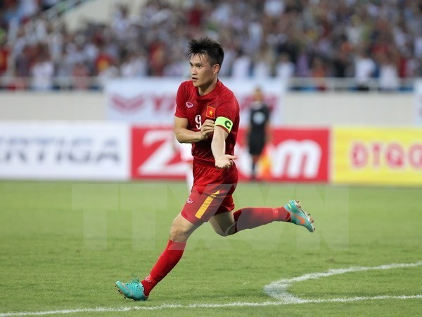 Le Cong Vinh is honoured as one of best striker by Fox Sport Asia (Photo:  VNA)