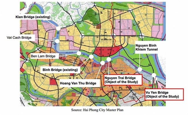 Haiphong Vietnam Map.Hai Phong Plans Four Big Transport Projects Vietnam Vietnamplus