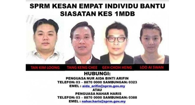 Malaysia reveals identities of four men connected to 1MDB scandal