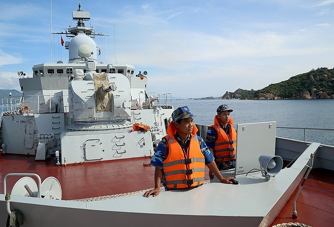 Ship 015-Tran Hung Dao to attend ASEAN-China Maritime Drill from October 21-28. Source: anninhthudo.vn