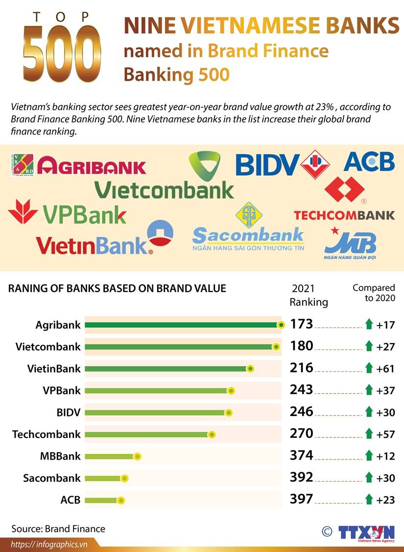 Nine Vietnam banks named in Brand Finance Banking 500 hinh anh 1