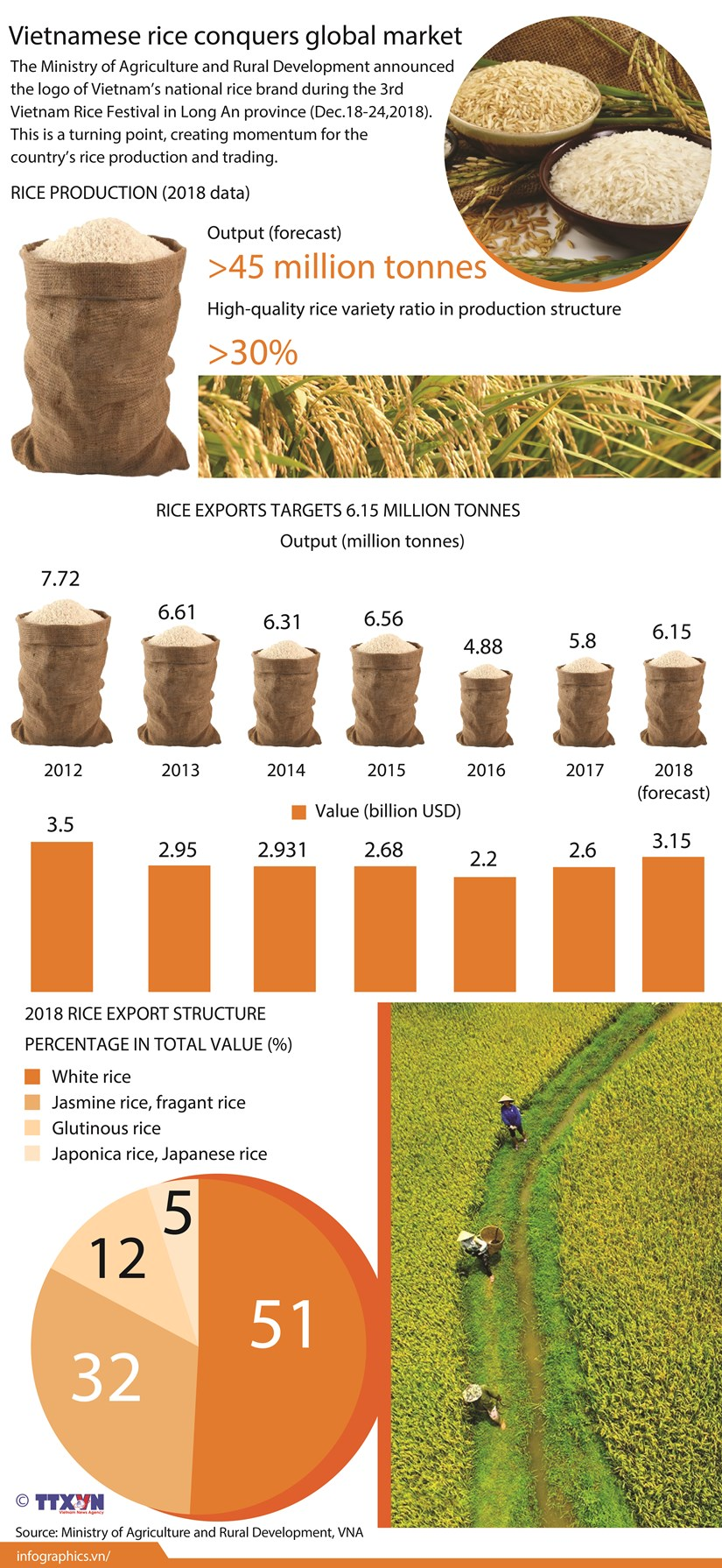 Vietnamese rice conquers global market hinh anh 1