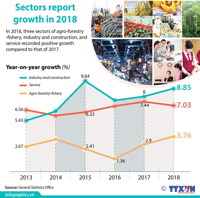 Sectors report growth in 2018 hinh anh 1