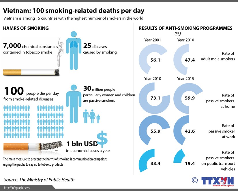 Vietnam: 100 smoking-related deaths per day hinh anh 1