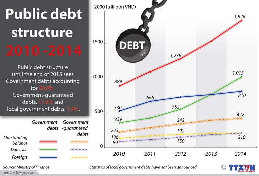 Government debts make up over 80 percent of public debt hinh anh 1