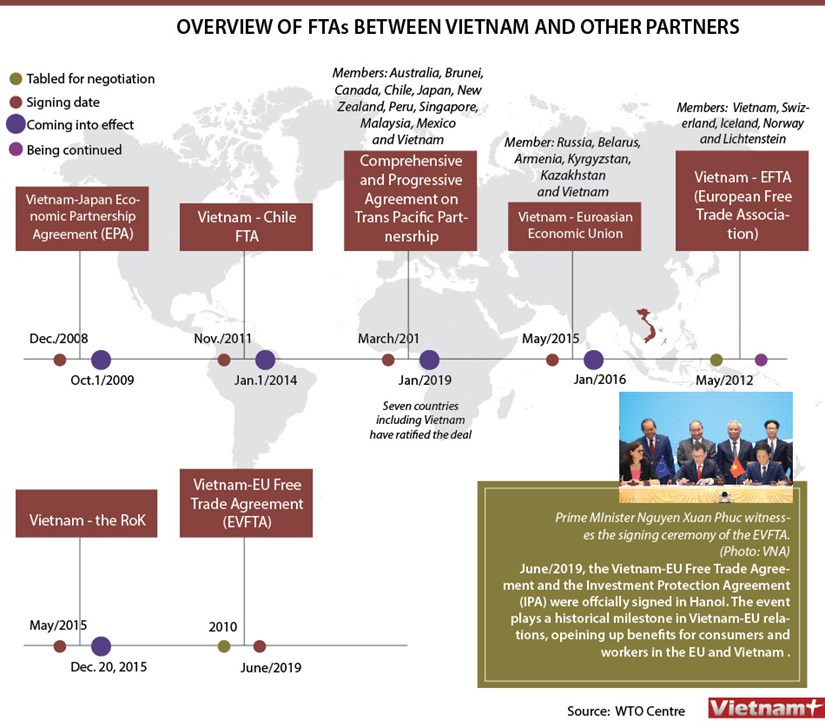 Overview of FTAs between Vietnam and other partners hinh anh 1