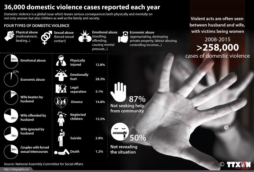 Half of domestic violence victims keep silent hinh anh 1