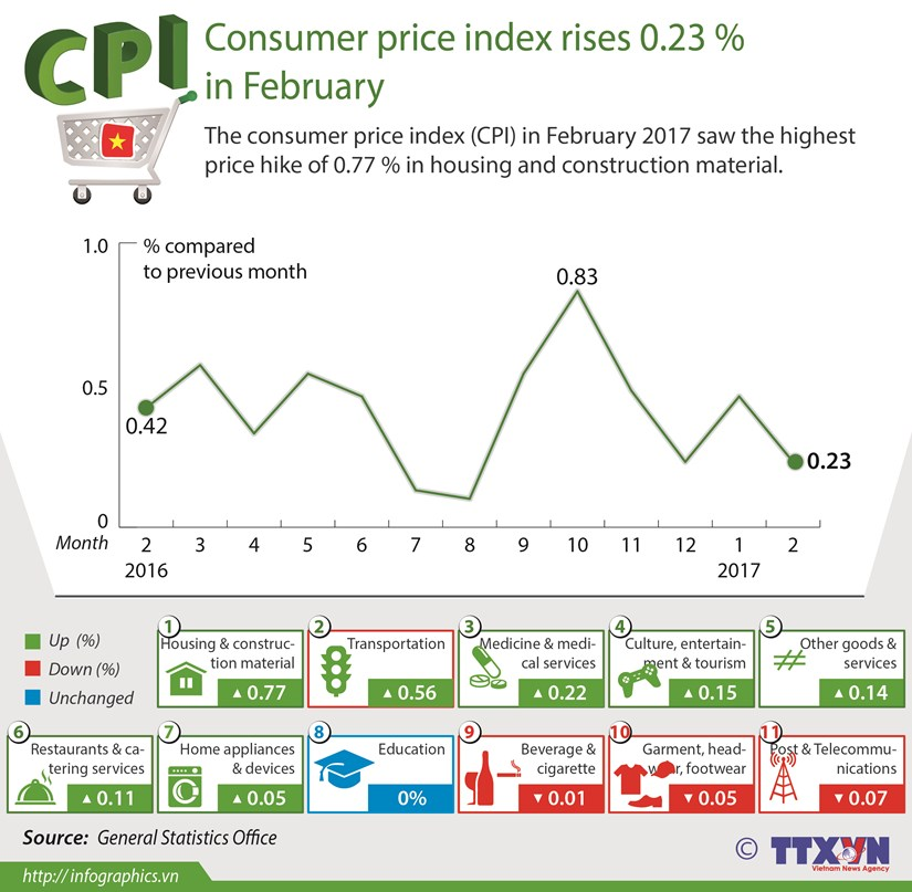Consumer price index rises 0.23 % in February hinh anh 1