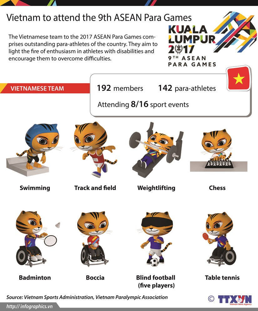 Vietnam to attend the 9th ASEAN Para Games hinh anh 1
