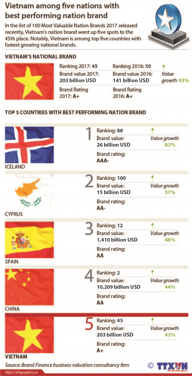 Vietnam among five nations with best performing nation brand hinh anh 1