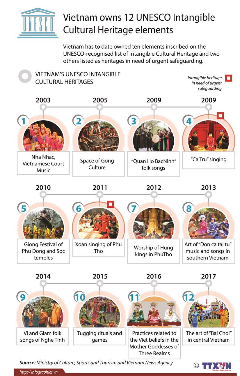 Vietnam owns 12 UNESCO Intangible Cultural Heritage elements hinh anh 1