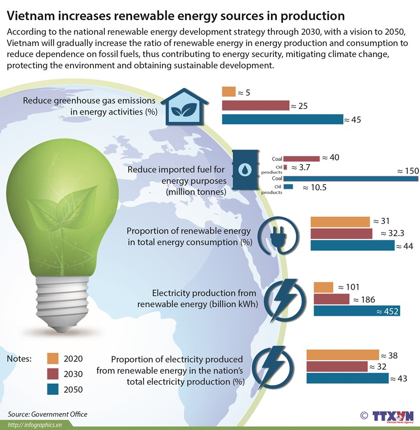 Vietnam increases renewable energy sources in production hinh anh 1