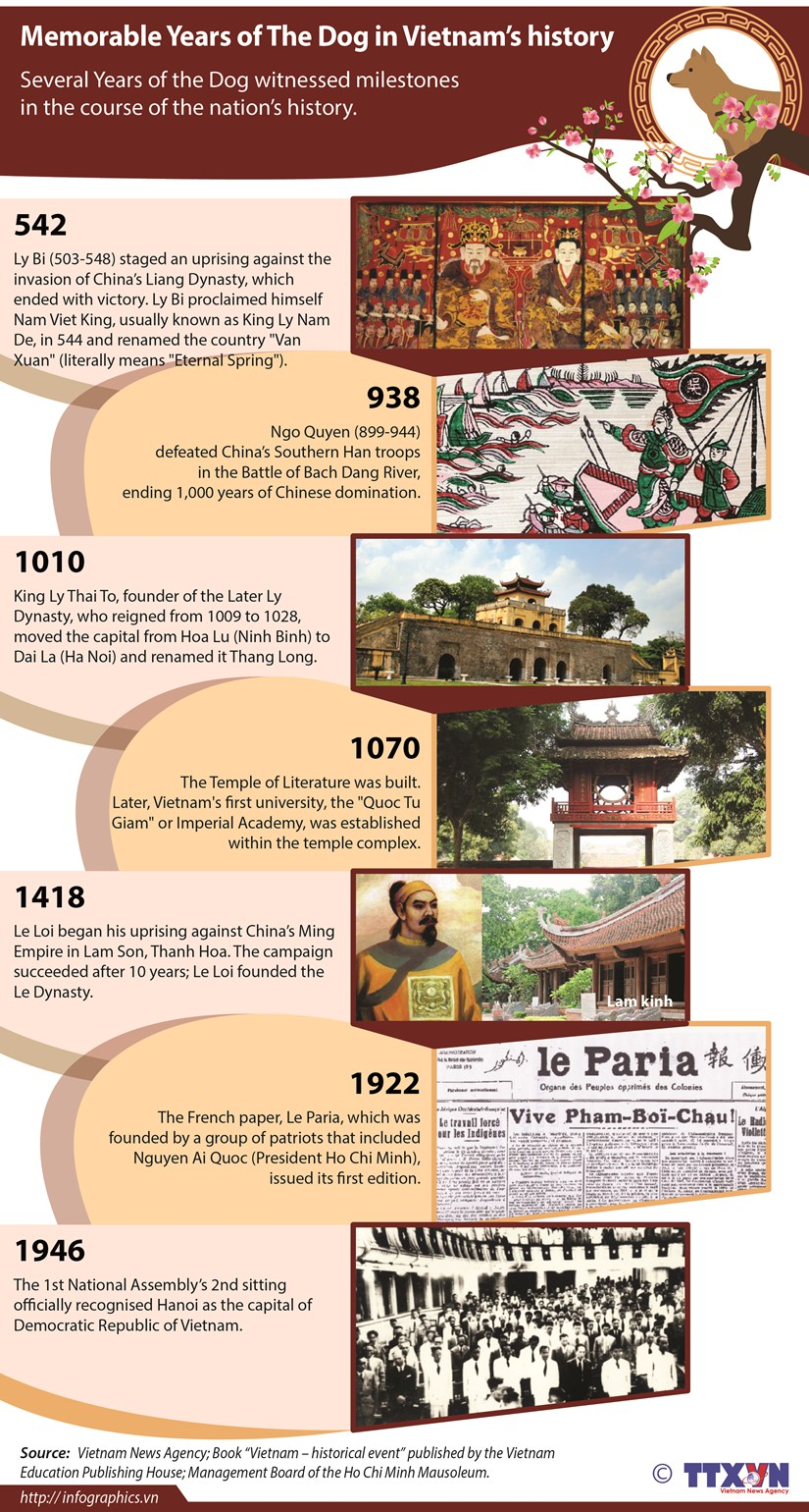 Memorable Years of The Dog in Vietnam's history hinh anh 1