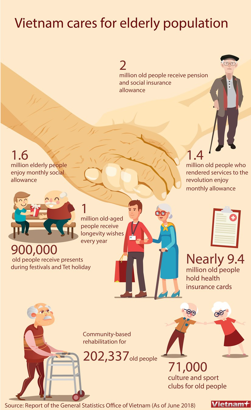 Vietnam cares for elderly population hinh anh 1
