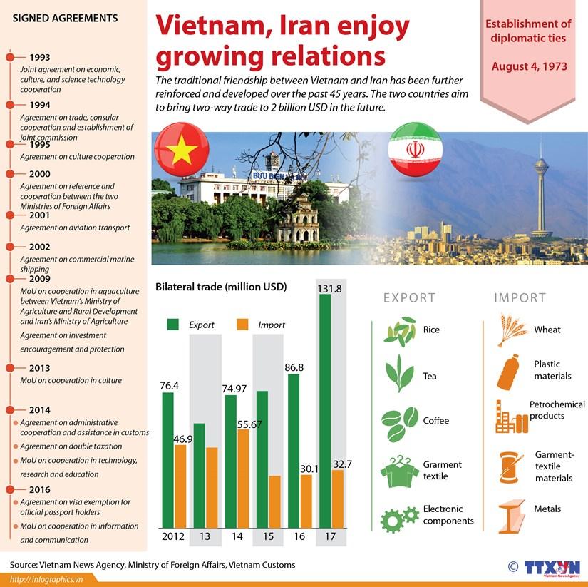 Vietnam, Iran enjoy growing relations hinh anh 1