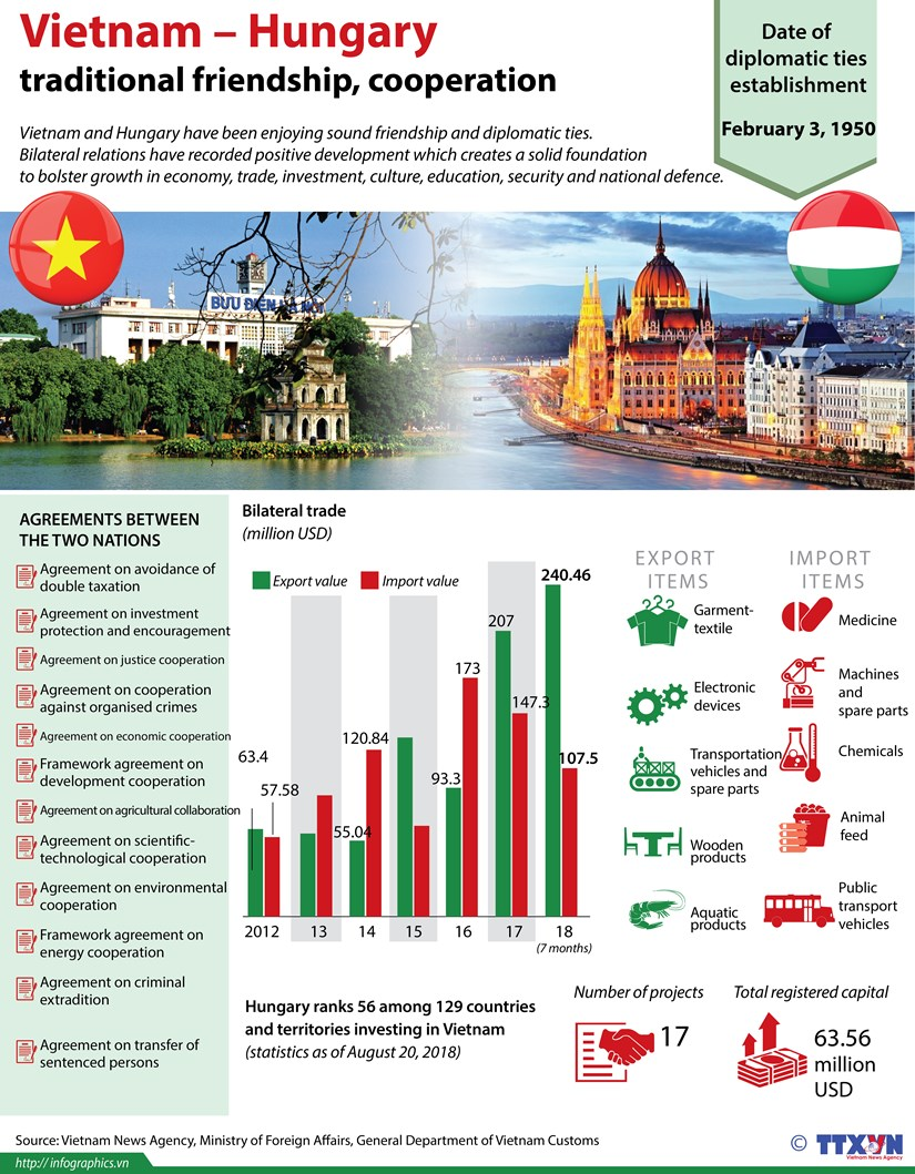 Vietnam – Hungary traditional friendship, cooperation hinh anh 1