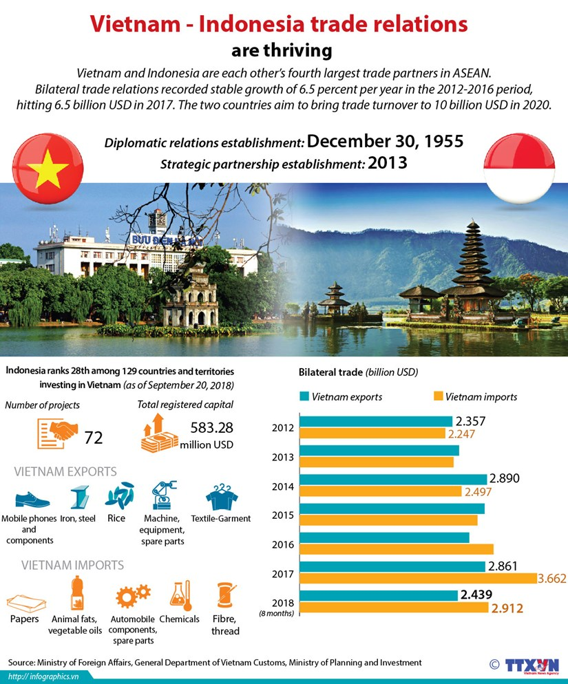 Vietnam and Indonesia trade relations are thriving hinh anh 1