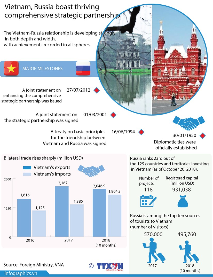 Vietnam, Russia boast thriving comprehensive strategic partnership hinh anh 1