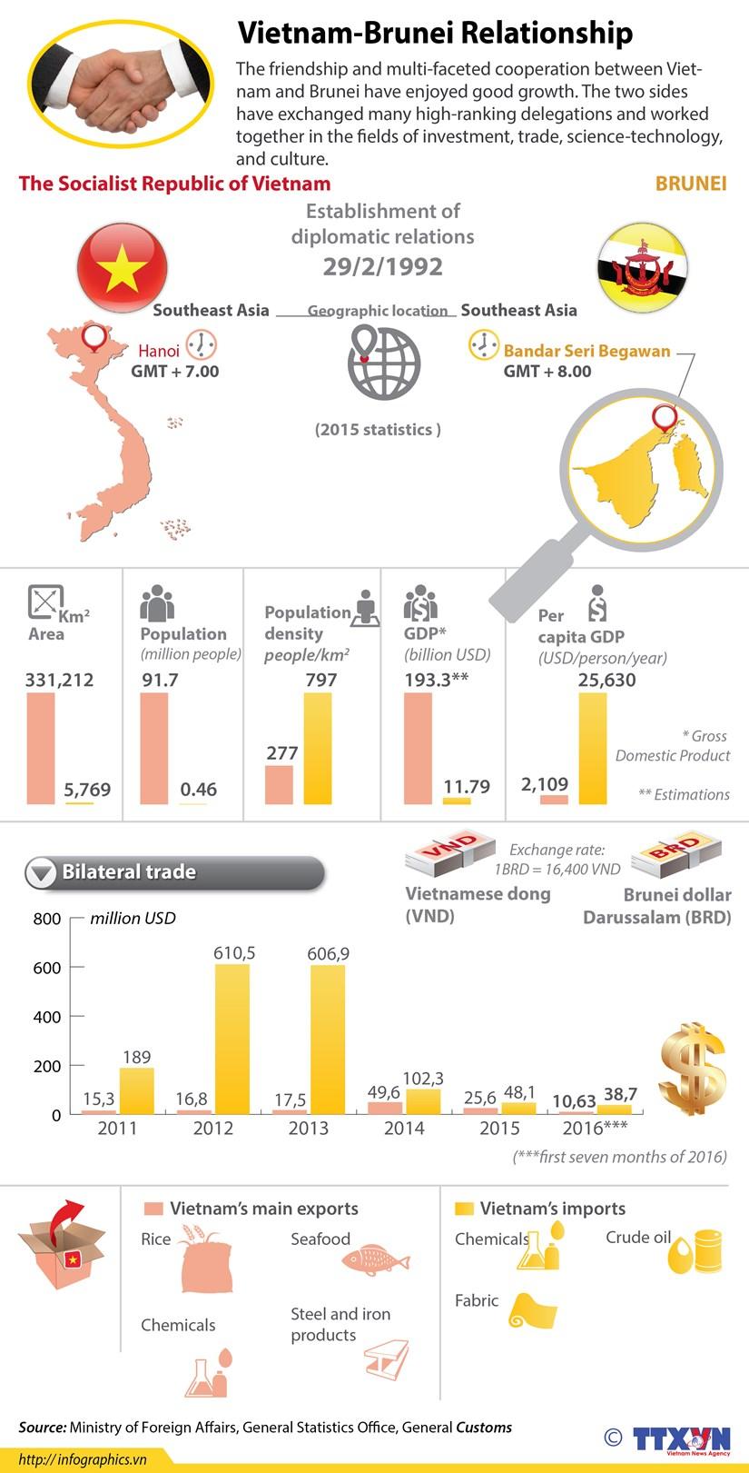 Vietnam-Brunei enjoy growing ties hinh anh 1