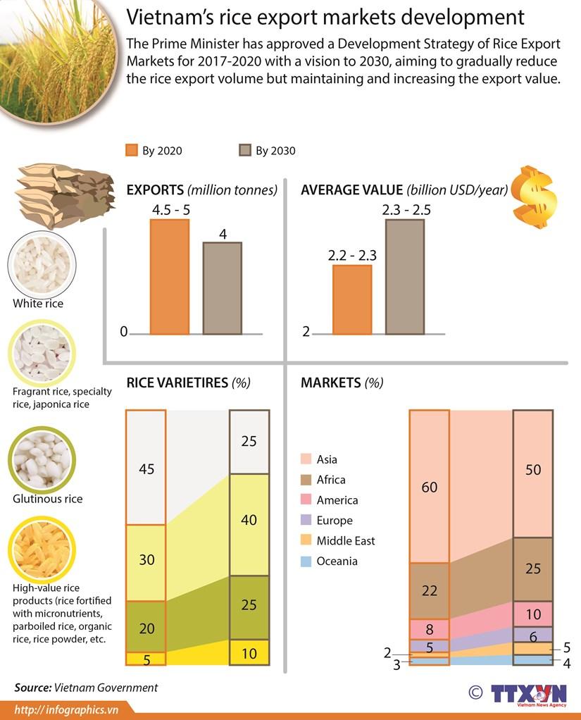 Vietnam's rice export markets development strategy hinh anh 1
