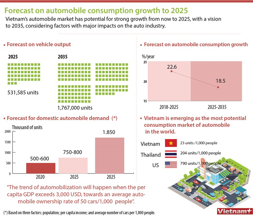 Forecast on automobile consumption growth to 2025 hinh anh 1