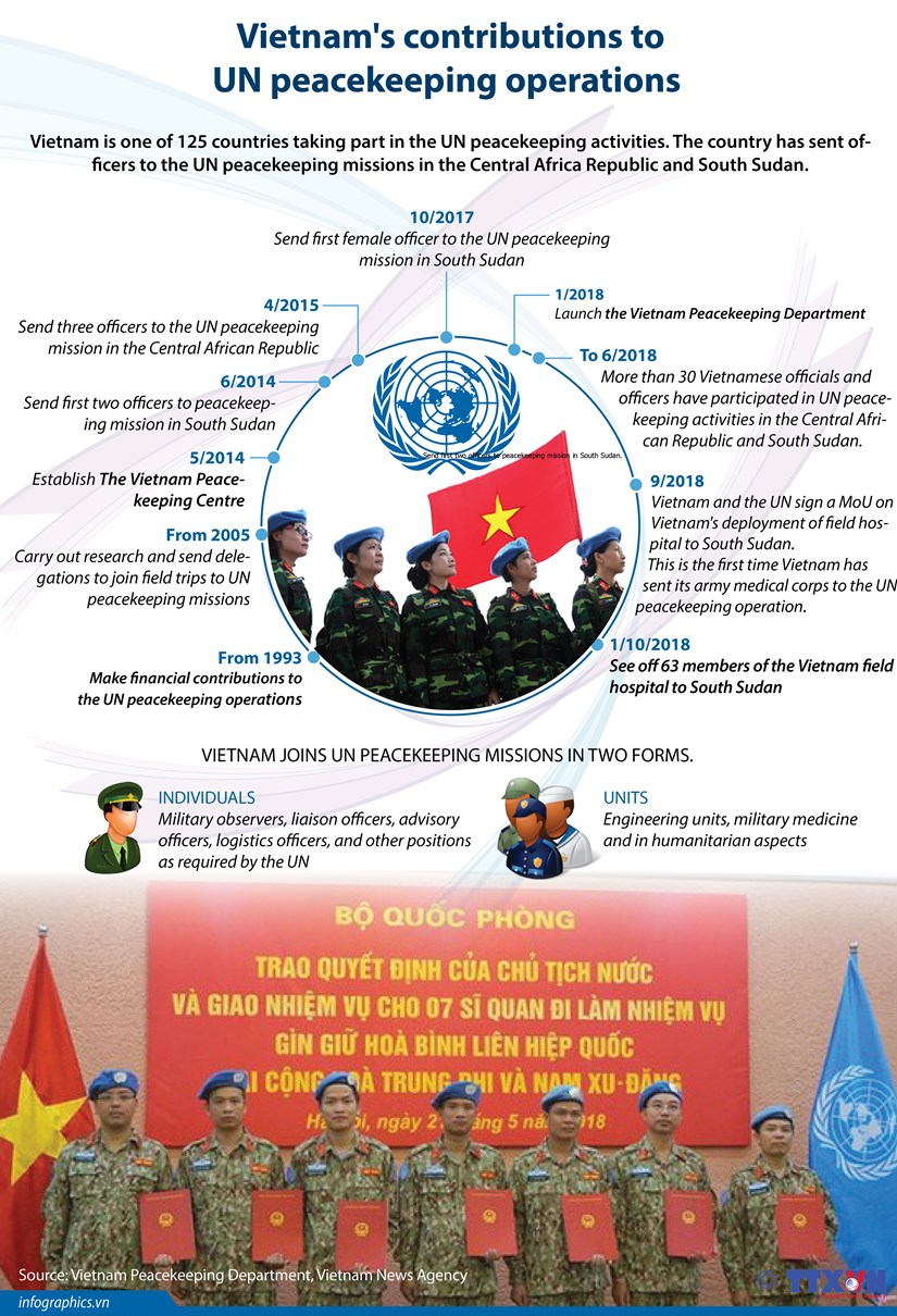 Vietnam's contributions to UN peacekeeping operations hinh anh 1