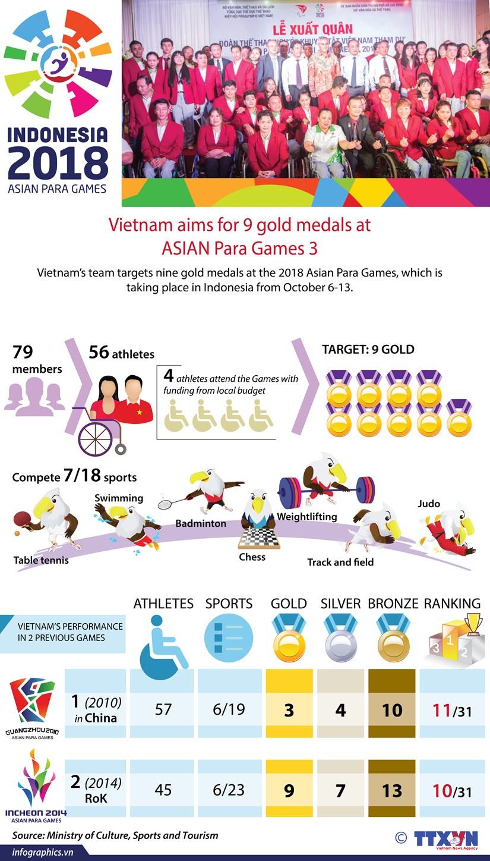 Vietnam aims for 9 gold medals at 3rd ASIAN Para Games hinh anh 1