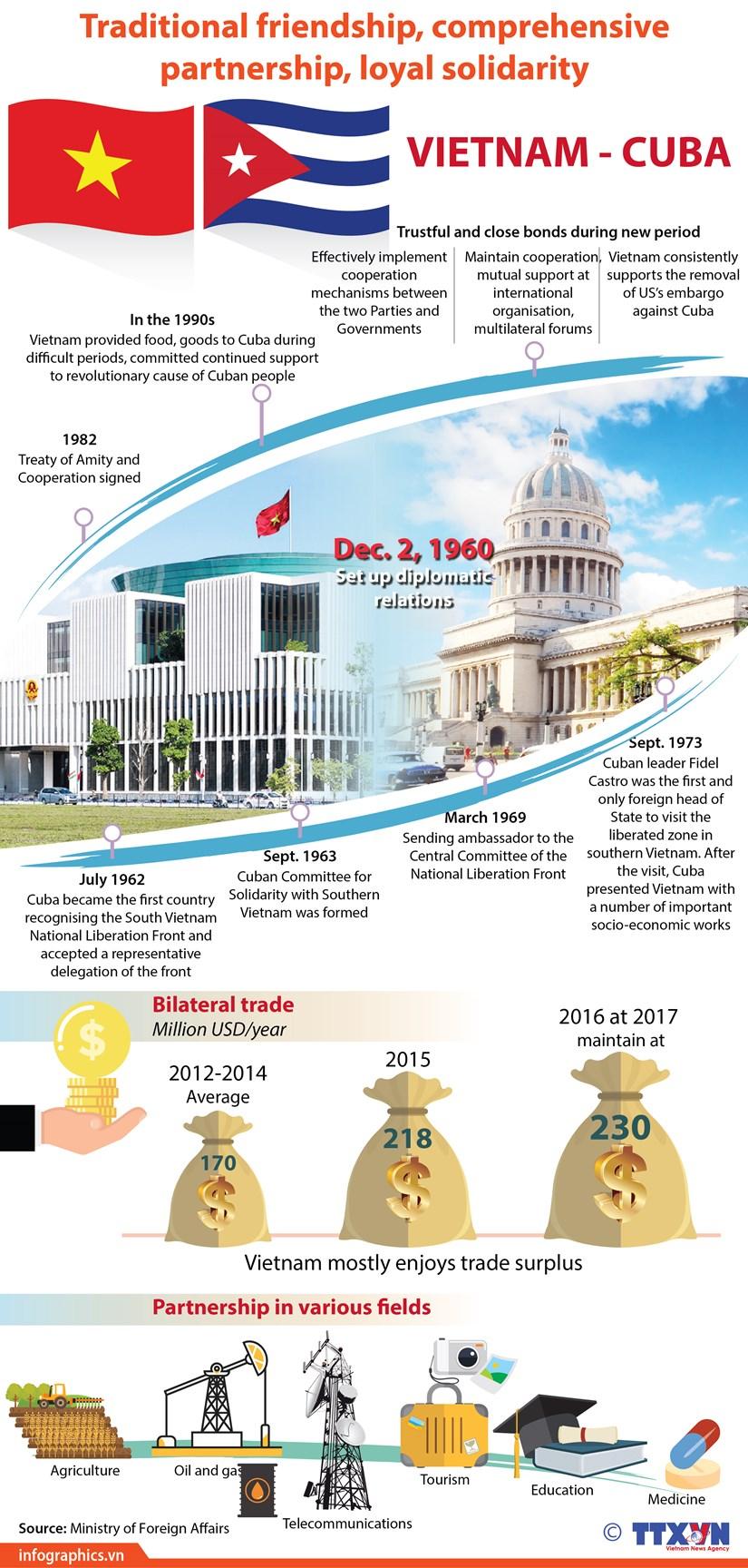 Vietnam, Cuba enjoy loyal solidarity through historical periods hinh anh 1