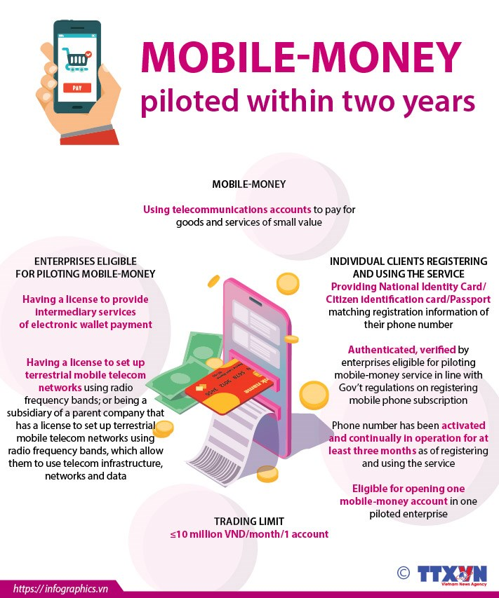 Mobile-money piloted within two years hinh anh 1