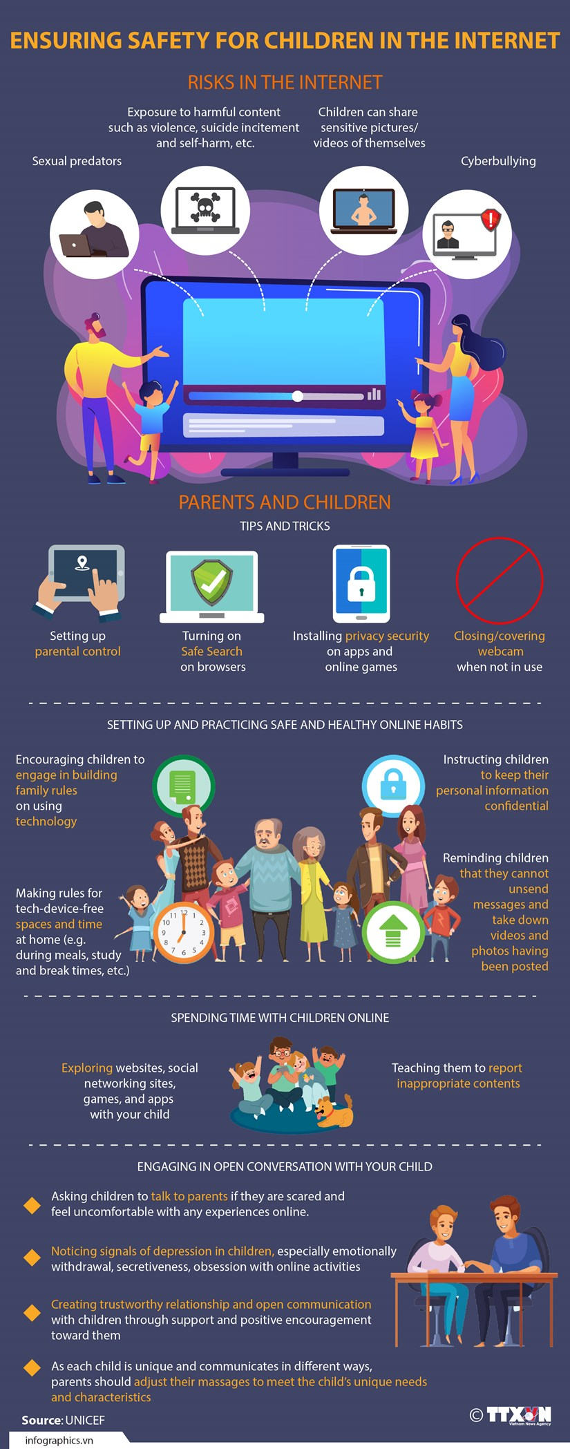 Ensuring safety for children in the Internet hinh anh 1