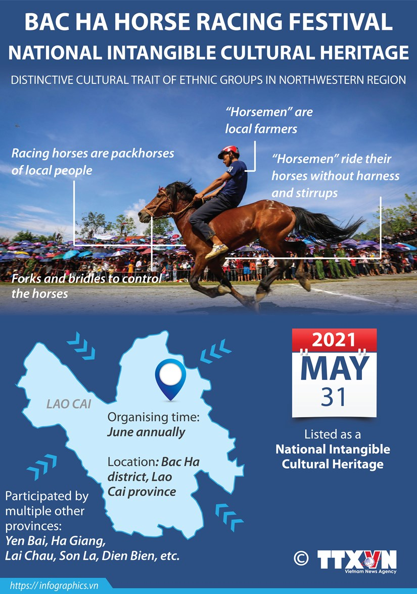 Bac Ha horse racing festival: National Intangible cultural heritage hinh anh 1