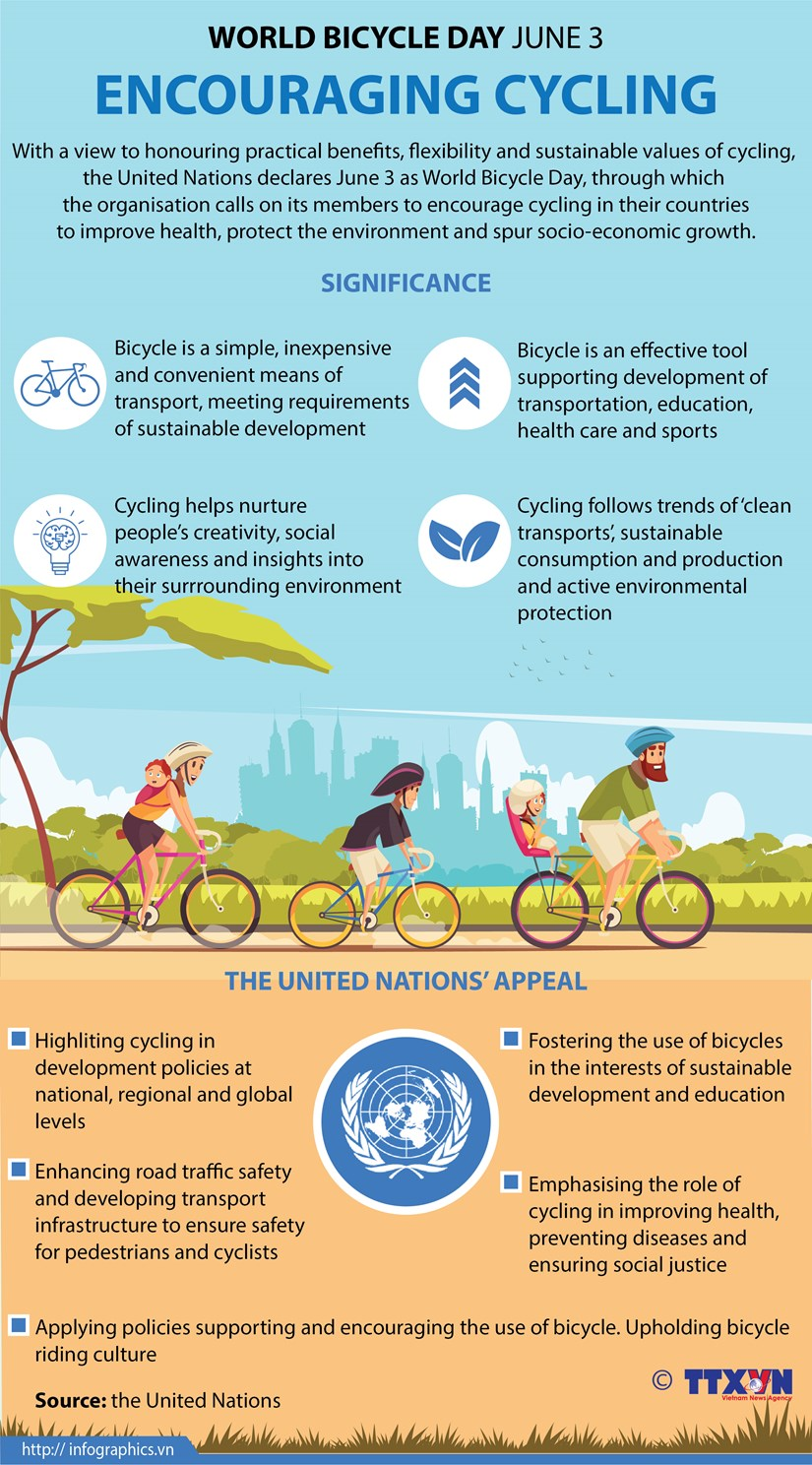 World Bicycle Day encourages cycling hinh anh 1