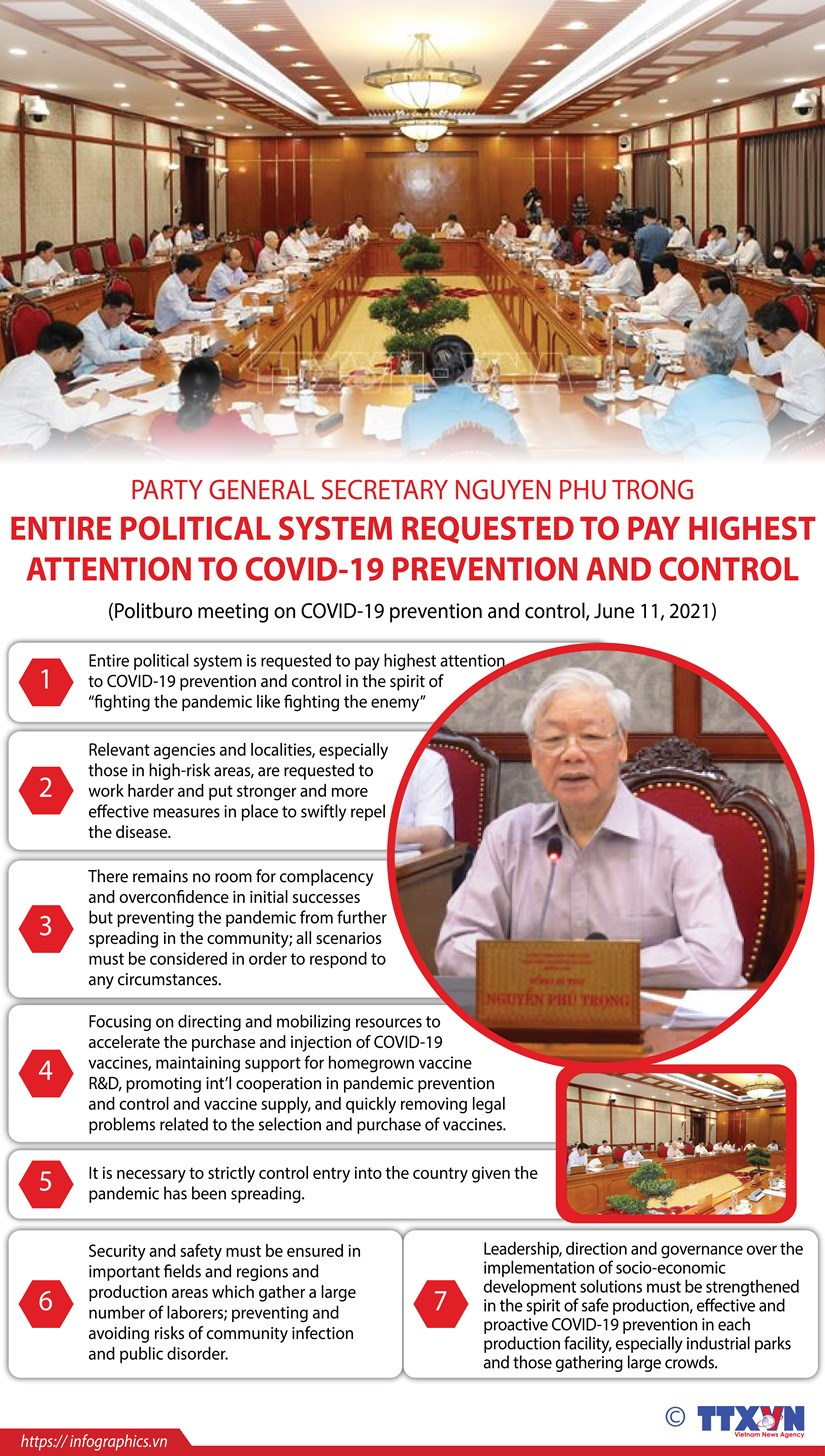 Leader requests highest attention to COVID-19 prevention hinh anh 1
