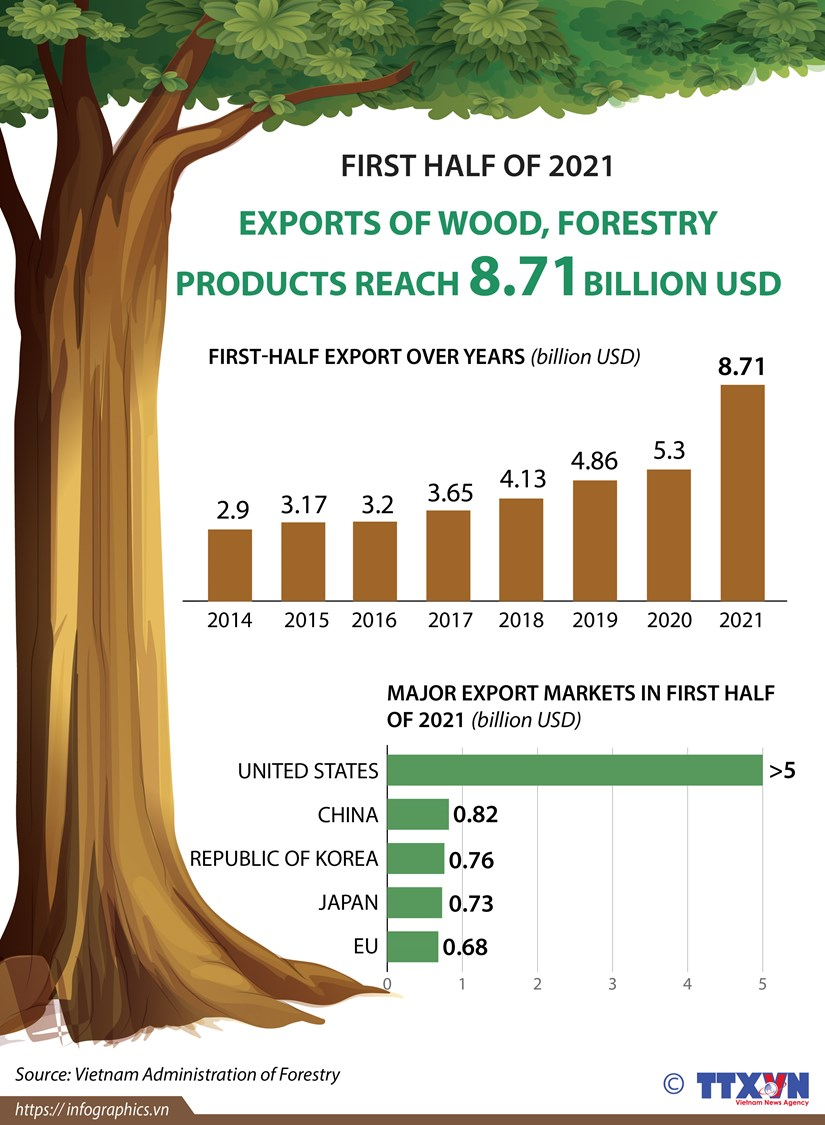 Exports of wood and forestry products hit 8.71 billion USD hinh anh 1