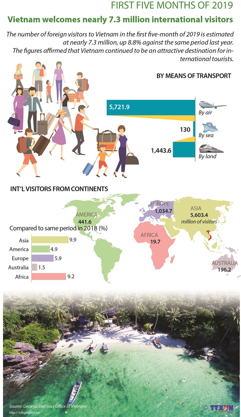 Vietnam welcomes nearly 7.3 million international visitors hinh anh 1