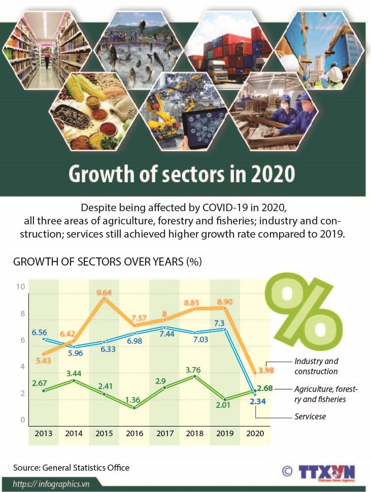 Sectors continue to grow despite Covid-19 hinh anh 1